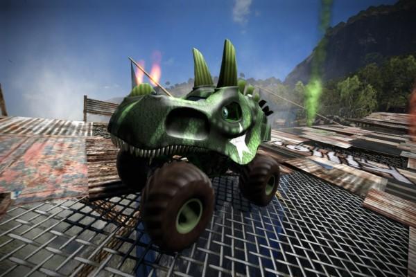Vehículo con cabeza de dragón