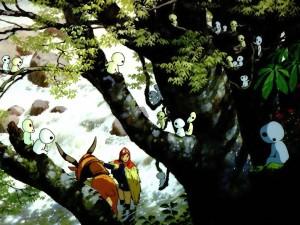 La princesa Mononoke y los extraños seres del bosque