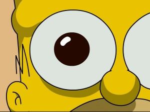 Postal: El ojo de Homer Simpson