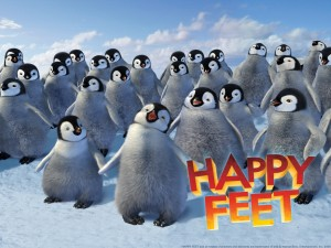 """Pingüinos emperador en """"Happy Feet"""""""