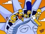 Los Simpson en la Estatua de la Libertad