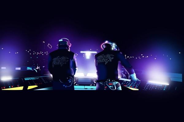 Daft Punk actuando en directo