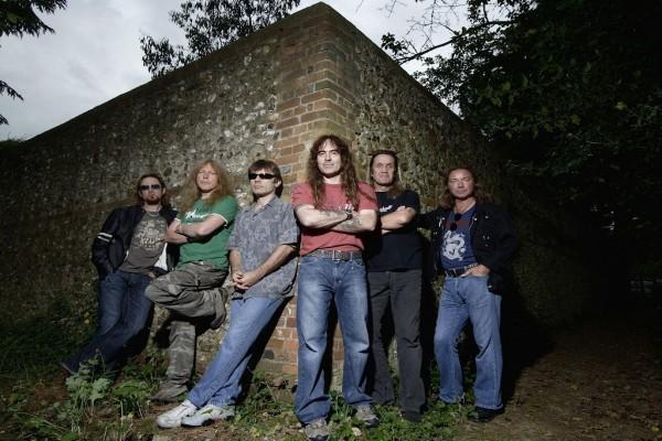 Los componentes del grupo Iron Maiden