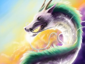 Postal: Dragón mitológico