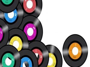 Postal: Discos de vinilo
