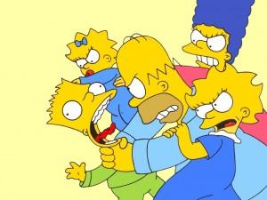 Los Simpson y sus riñas familiares