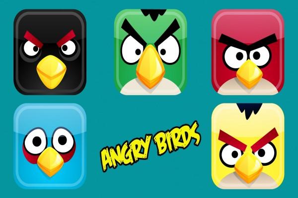 Angry Birds cuadrados
