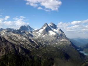 El pico de la montaña