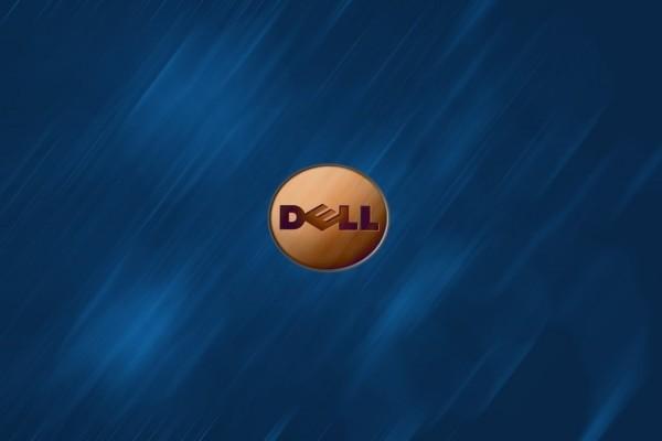 Logo DELL en madera