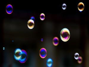Postal: Burbujas de colores