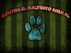 Postal: Contra el maltrato animal