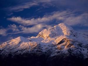 Postal: Montaña nevada