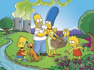 Postal: Los Simpson de picnic