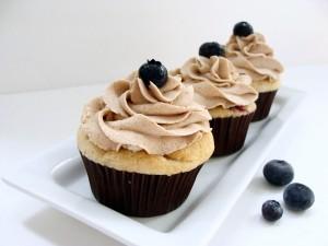 Postal: Cupcakes de arándanos