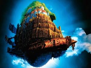 """Postal: """"Laputa: Un castillo en el cielo"""" (Hayao Miyazaki)"""