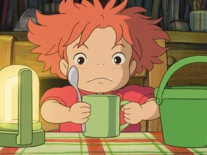Postal: La pequeña Ponyo