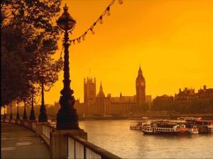 Río Támesis en Londres