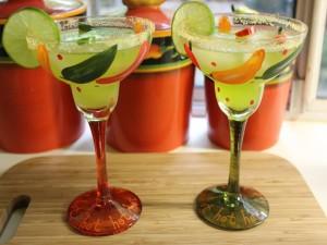 Postal: Dos cócteles Margarita