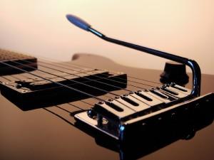 Guitarra eléctrica de cerca