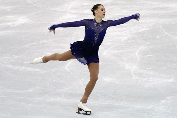 Natalia Popova (Ucrania) en el Campeonato Mundial de Patinaje Artístico de 2012