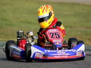 Giuliano Raucci en karting