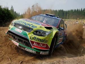 Jari-Matti Latvala pilotando su Ford Focus