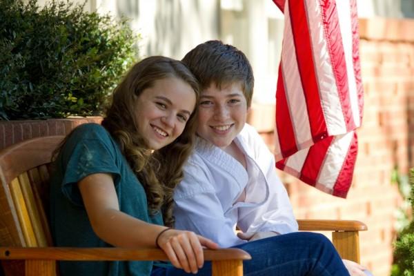 Chris y Dana, hijos del Sargento Brody