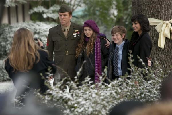 El Sargento Brody con su mujer e hijos