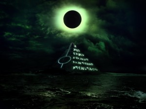 Postal: Pirámide misteriosa