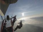 Lanzándose desde un globo aerostático