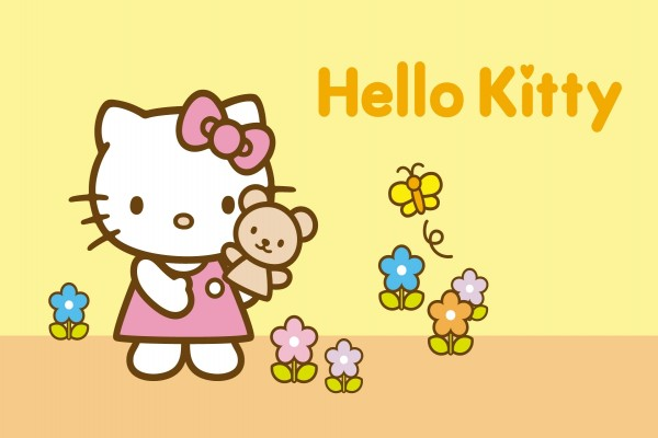 Hello Kitty en el campo