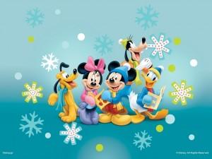 Mickey Mouse y sus amigos en invierno
