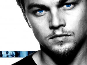 Postal: Leonardo Di Caprio con ojos azules