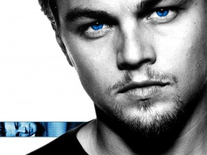 Leonardo Di Caprio con ojos azules