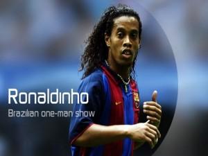 Ronaldinho con la camiseta del Barça