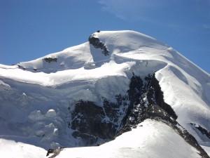 Postal: Allalinhorn, en los Alpes Peninos