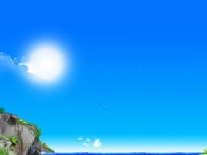 Postal: Cielo y mar