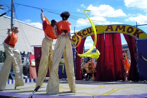 Zancudos de circo en la ciudad de Nueva York