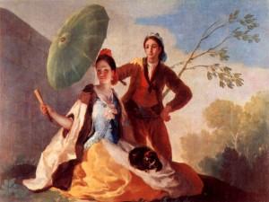 """""""El quitasol"""", óleo sobre lienzo del pintor Francisco de Goya (1777)"""