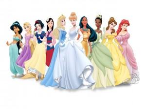 Postal: Desfile de Princesas Disney