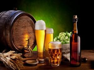 Postal: Bodegón de cerveza