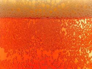 Postal: Burbujas de cerveza