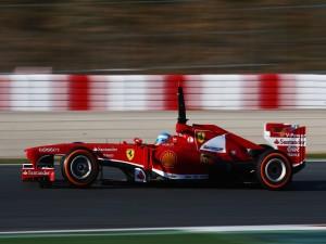 Postal: Fernando Alonso en su Ferrari