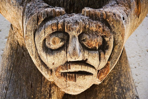 Tótem de madera (Vancouver, Canadá)