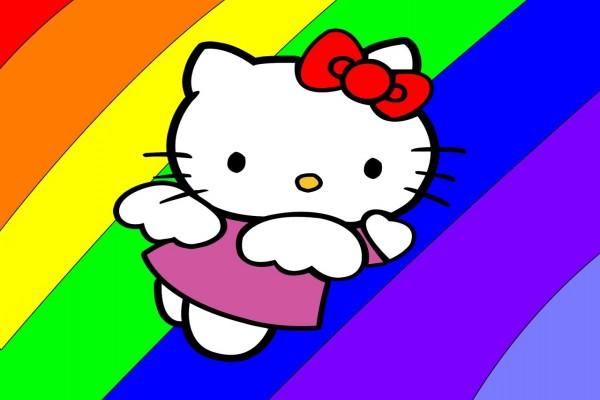 Hello Kitty arco iris
