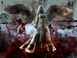 Postal: Ángel oscuro