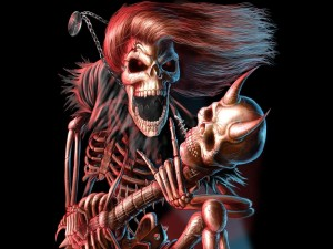 Esqueleto rockero