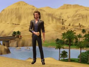 """Postal: Un personaje de """"Los Sims 3"""""""
