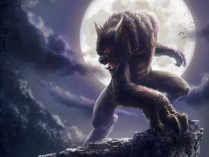 Postal: Hombre Lobo