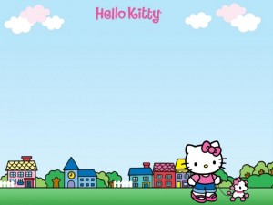 Hello Kitty paseando un perrito